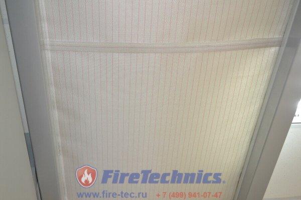 Автоматическая противопожарная штора горизонтальная FireTechnics